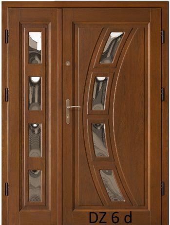 Drzwi zewnętrzne gr. 7,5 cm dębowe ocieplane