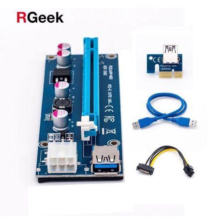 Райзер (Riser) v.006С PCI-E 6pin 12v USB 3.0 - 60см Гарантія 3 міс