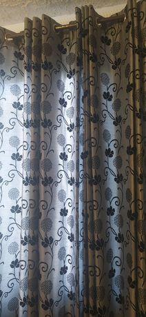 Срочно ! Натуральні штори льон ( двосторонні )
