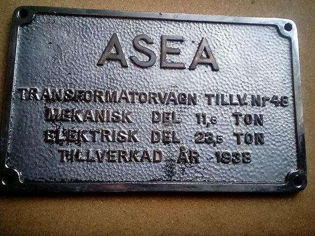 Stary szyld tablica znamionowa elektrowóz