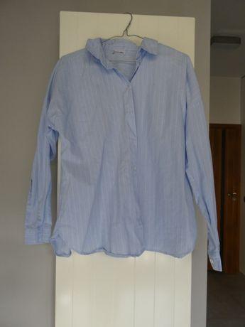 Koszula casual niebieska w paski ONLY długi rękaw