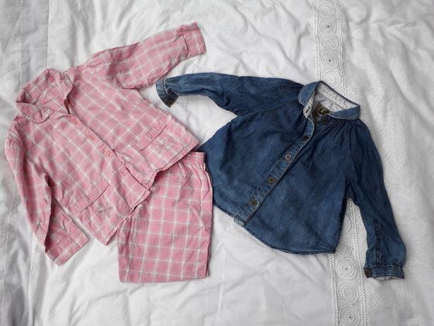 ZESTAW komplet pidżama i koszula dla dziewczynki LAB r.92-98