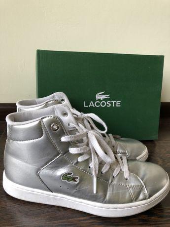 Oryginalne srebrne Lacoste dla dziewczynki rozmiar 36 stan bdb