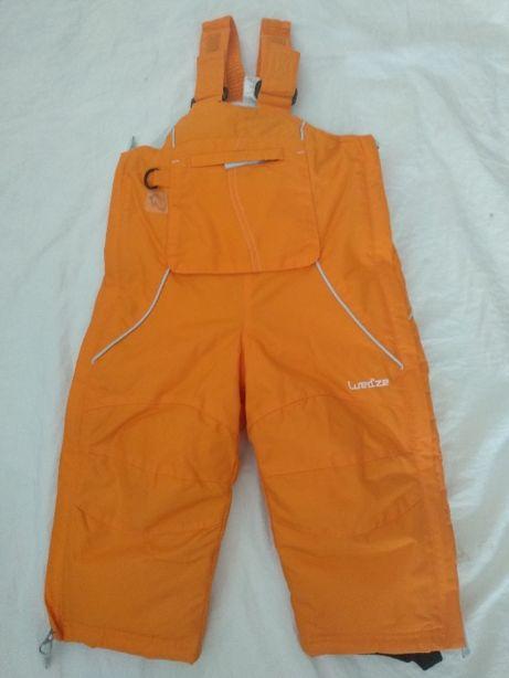 Fato de neve de criança - 78/85cm - 18 meses - cor de laranja
