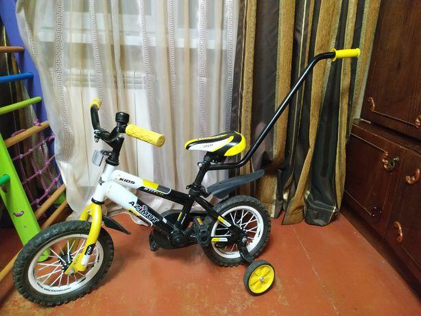 """Велосипед двухколёсный со съемной родительской ручкой d-12"""""""