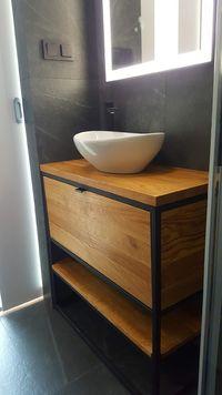 Szafka pod umywalkę loft.Lity dąb,szuflada cichy domyk bardzo pojemna.