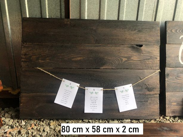 Tablica drewniana ślub wesele lista gości