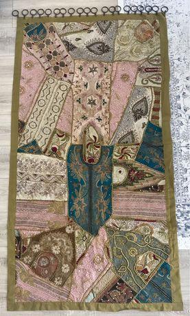 Vintage Tapeçaria tapete de parede indiana bordada