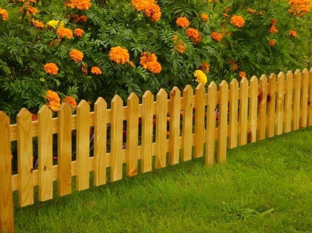 Заборы, деревянные заборчики , палисадники, ограждения для клумб