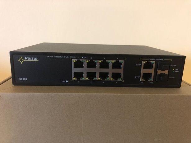 Switch 10-portowy SF108 do 8 kamer IP bez gwarancji
