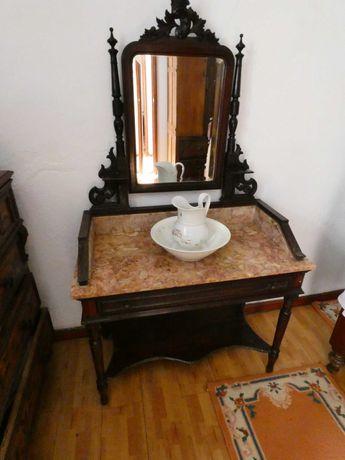 Toucador Antigo Marmore e Espelho
