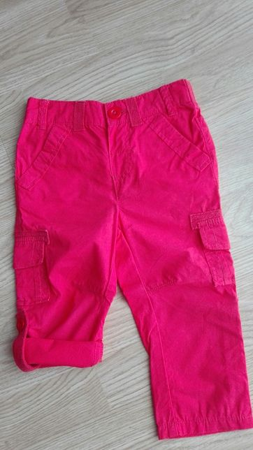 Spodnie letnie czerwone