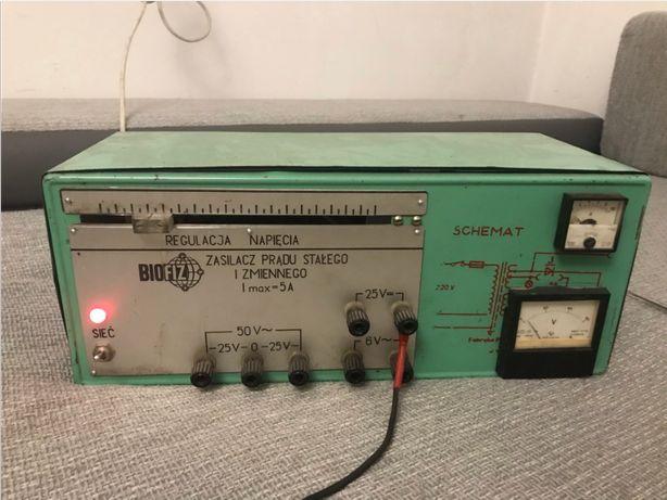 Zasilacz prądu stałego i zmiennego Unitra BIOFIZ 5A