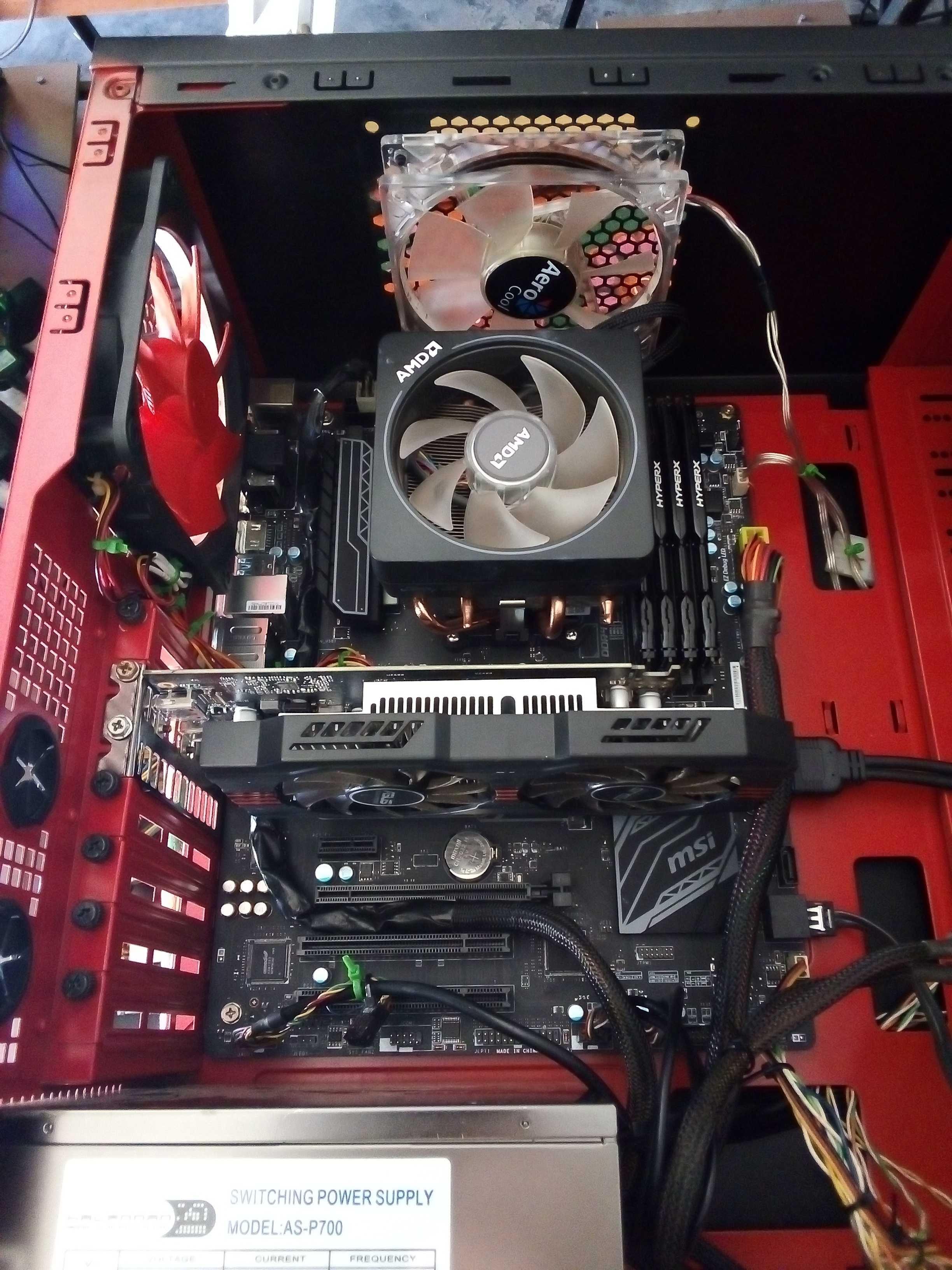 Computador Gaming (Ryzen 5 1600x +Gráfica de 4gb+16gb Ram)