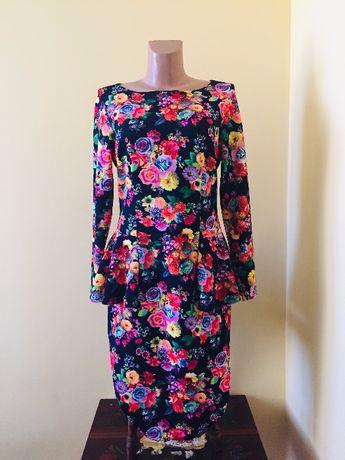 Платье баска в цветы