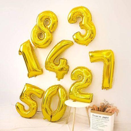 Фольговані цифри, шарик фольгирований