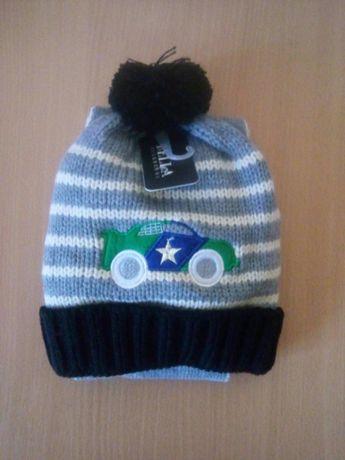 Комплект шапка+шарф зимова дитяча/шапка детская зимняя