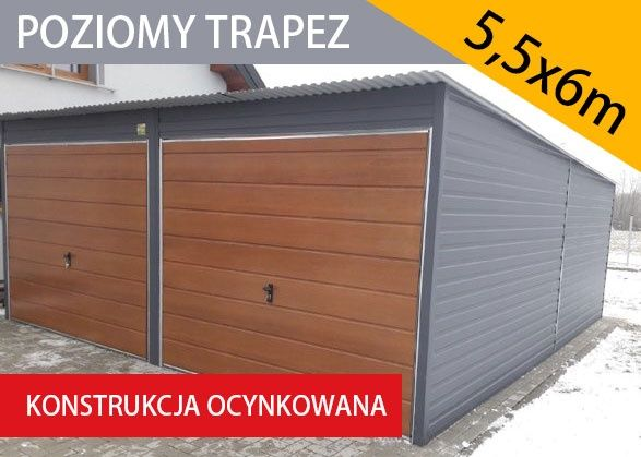 Garaż blaszny 5.5x6 , garaże blaszane , wiaty ,hale , magazyn
