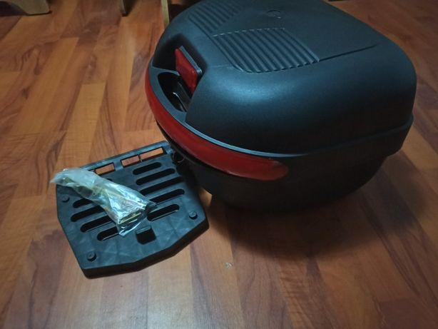 Кофр скутер мото мопед задний багажник для шлема боковые сумки ткань