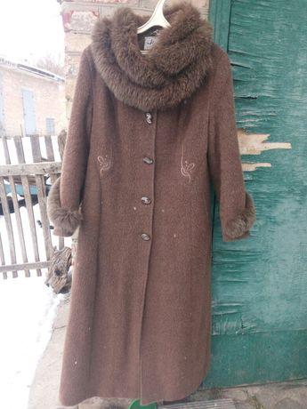 Пальто mangust шерсть мех