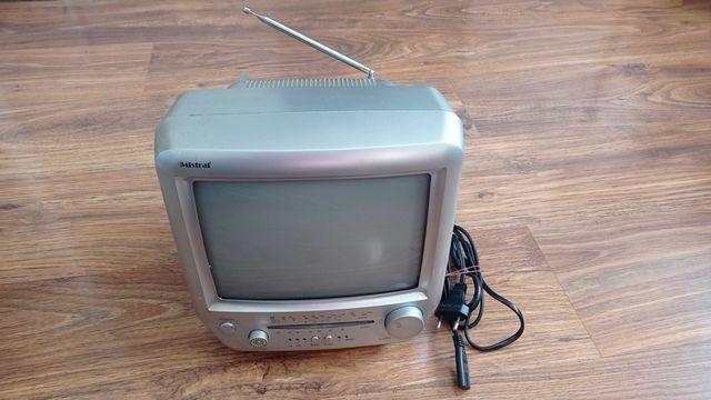 Mały telewizor z radiem FM-AM czarno-biały 230V lub 12V