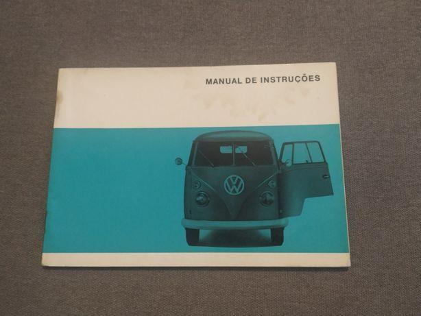 """Manual Instruções Volkswagen Transporter Split """"Pão de Forma"""" 66/67"""