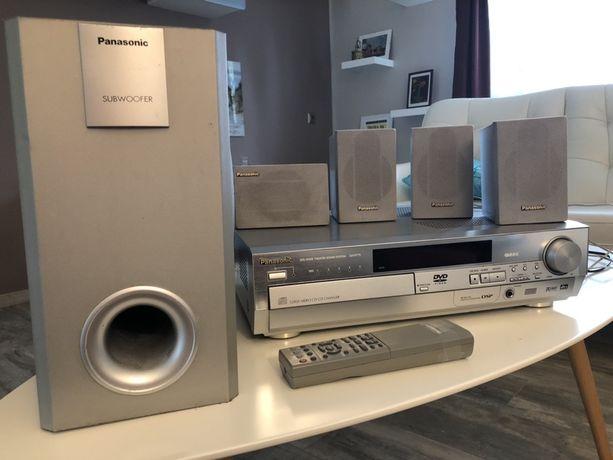 zestaw kina domowego 5.1 Panasonic amplituner, subwoofer
