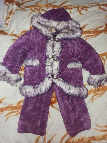Зимний костюм на девочку от 1 года до 4 лет.