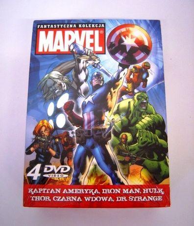Marvel Fantastyczna Kolekcja Box 4DVD Filmy DVD Animowane folia