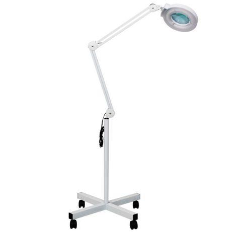 Лампа лупа косметологическая LED, 5 диоптрий, D=12см, на штативе