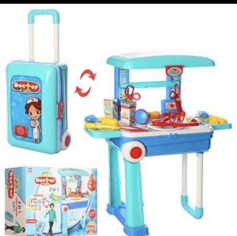 Набор доктора в чемодане на колесах детский