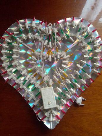 Сердечко оформление декор с подсветкой