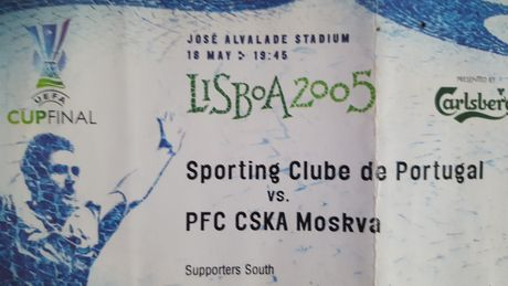 Bilhete da Fina da Taça Uefa do Sporting