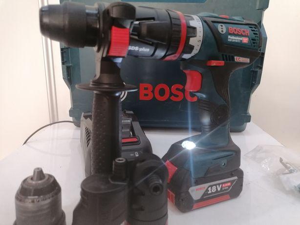 Bosch GSR 18V-60 FC z 4 wymiennymi uchwytami sds plus 6.0ah