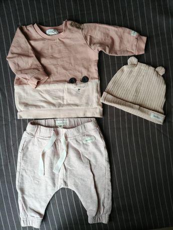 Komplet dresowy 56 newbie czapka bluza spodnie
