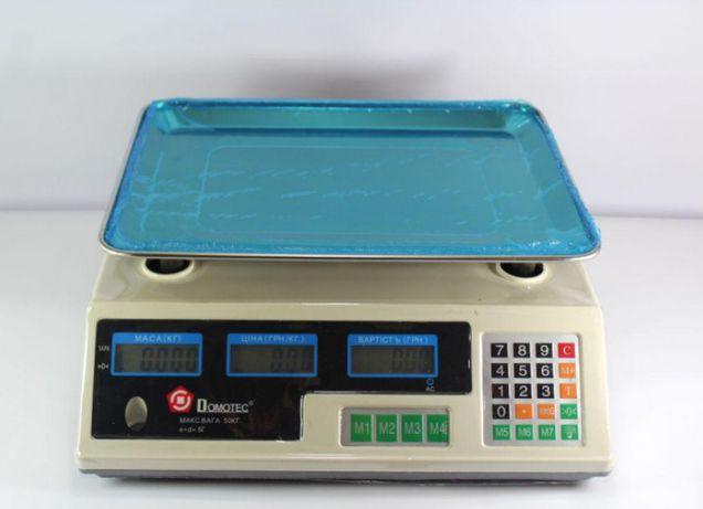 Торговые весы Dоmotec MS-228 до 50кг! настольный практичный