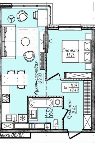 Продам 1 ком квартиру по супер цене в новом доме на 2 ст Фонтана