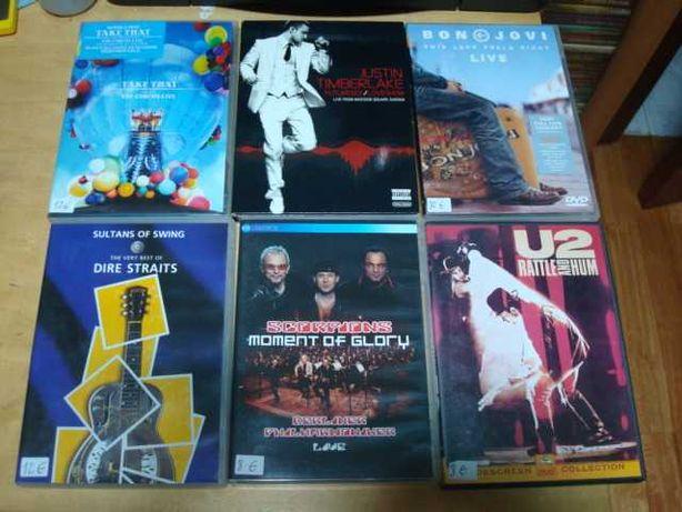 lote 187dvds musicais bon jovi ,u2, ricky martin,killers  ect