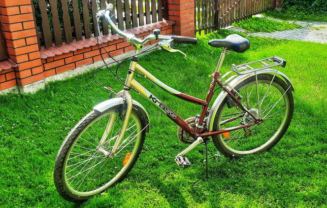 Rower kross 21 biegów 3x7 damka tanio  z bagażnikiem miejskie