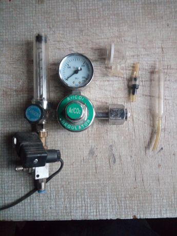 Reduktor CO2 + elektrozawór i akcesoria
