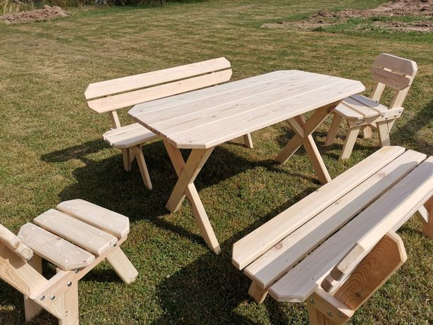 Promocja posezonowa, meble ogrodowe 5 elementów 150cm