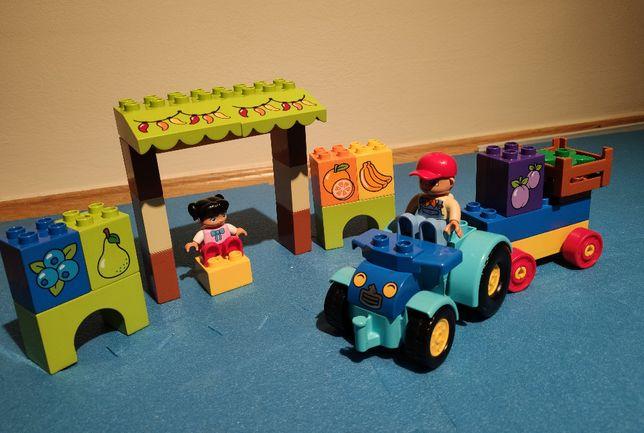 Klocki Lego Duplo Mój pierwszy traktor 10615 z dodatkowym straganem