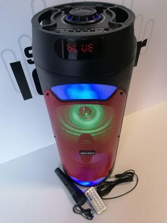 60cm karaoke tws głośnik bluetooth radio kolumna plus mikrofon i pilot