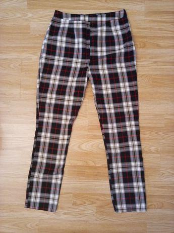 Spodnie rurki w kratę booho r 38