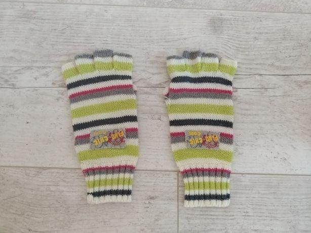Rękawiczki kolorowe w paski bezpalcowe Coccodrillo Coco Fluo Girl