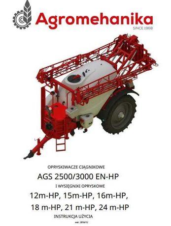 Instrukcja obsługi opryskiwacza AGS 2500/3000