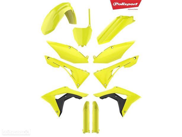 kit plasticos polisport amarelo fluor honda crf 250 / 450