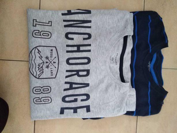 Bluzki t-shirt długi rękaw chłopiec 164