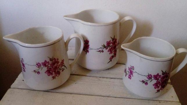 Dzbanek mlecznik porcelanowy Made in China 3sztuki pamiątka PRL