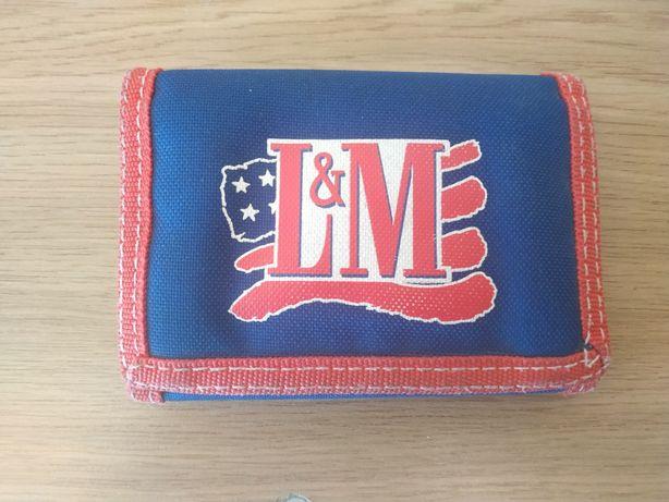 Тканевый кошелек L&M красный (LM) на липучке